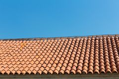 Closeup of roof tiles Stock Photography