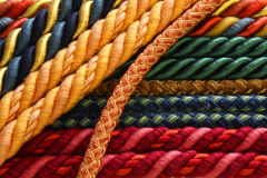 Closeup rope curtain retainers Stock Image