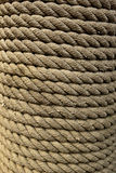 Closeup of Roped Wrapped around Piling Royalty Free Stock Images