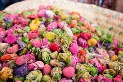Closeup rosebud potpourri Royalty Free Stock Image