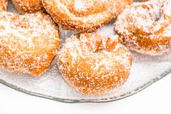 Closeup of rosquillas Stock Images