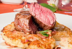 Closeup of a Rossini veal Royalty Free Stock Images