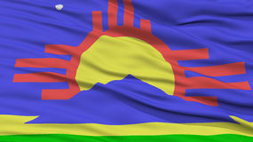 Closeup of Roswell City Flag Royalty Free Stock Image
