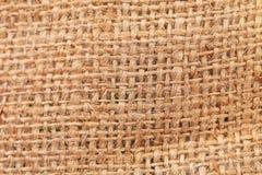 Closeup of rough natural linen texture. Royalty Free Stock Photography
