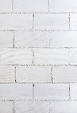 White brick wall texture. Closeup of rough white brick wall texture Royalty Free Stock Photo