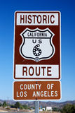 Closeup Route 6 Sign Stock Image