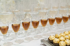 Drinks and sweets Stock Photography