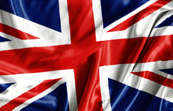 Closeup of ruffled British flag Royalty Free Stock Photos