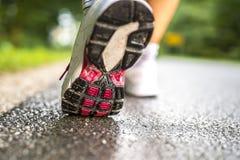 Closeup of runner feet Stock Photography