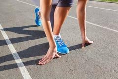 Closeup of runners shoe - running Stock Photos