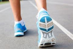 Closeup of runners shoe - running Stock Photography
