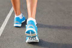 Closeup of runners shoe - running Royalty Free Stock Images