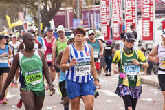 Closeup of Runners and Spectators at Comrades Marathon Stock Images
