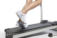 Closeup of running man Stock Images