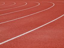 Closeup of running track Stock Image
