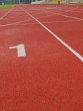 Closeup of running track Stock Image