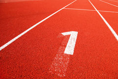 Closeup of the running track Stock Photography