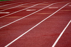Closeup of a Running Track Royalty Free Stock Photo