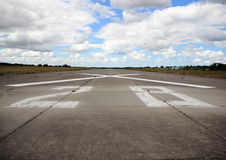 Closeup on runway number at airfield Royalty Free Stock Photos