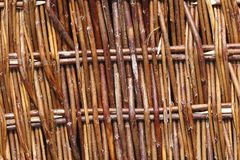 Closeup of a rush basket. A closeup of a rush basket. Weaving such baskets really is craftsmanship Royalty Free Stock Image