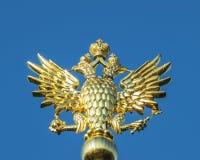 The Twoheaded Eagle. Closeup of the Russian autocracy symbol stock photos