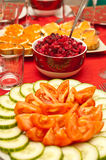 Closeup of russian traditional beetroot salad Royalty Free Stock Photos