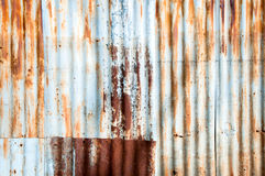 Closeup Rusted galvanized iron plate Stock Images