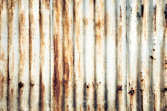 Closeup Rusted galvanized iron plate Stock Image