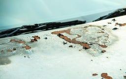 Closeup rusty car Royalty Free Stock Image