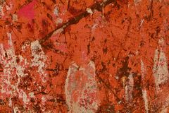Rusty orange painted steel surface Stock Photo