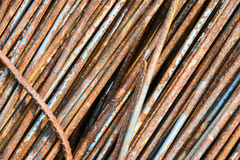 Closeup rusty rebar steel Stock Images