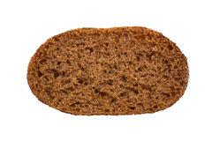 Closeup of a rye bread, viewed from above Stock Images