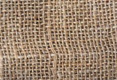 Closeup of sackcloth texture Stock Image