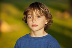 Closeup Of A Sad Child Royalty Free Stock Photos