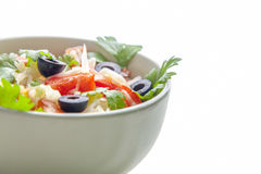 Closeup of salad. With olives Stock Photos