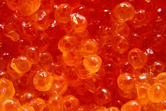 Closeup of Salmon Caviar Stock Photos