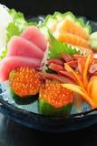 Closeup of salmon egg Royalty Free Stock Photo