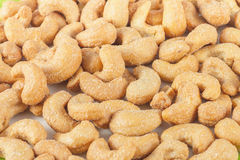 Closeup of salted cashews nuts Stock Photos