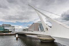 Closeup of Samuel Beckett Surpension Bridge, Dublin Ireland. Stock Photography