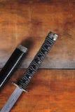 Closeup of samurai sword Stock Image