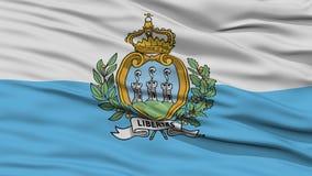 Closeup San Marino Flag Stock Photos