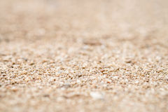 Closeup of sand on the beach, shallow deep of field Royalty Free Stock Photography