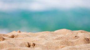 Closeup of sand of a beach in the summer Royalty Free Stock Photo
