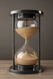 Closeup Sand hourglass. 3d Rendering Stock Images