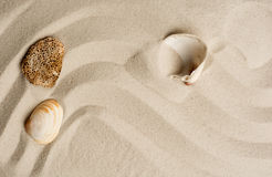 Closeup of sand pattern on a beach in the summer Royalty Free Stock Image
