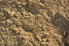 Closeup of sand pattern. Of a beach in the summer Stock Photo