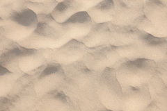 Closeup of sand pattern of a beach Royalty Free Stock Images