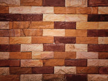 Closeup sand stone brick wall Stock Image