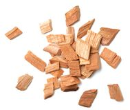 Closeup of sandalwood isolated on white, top view. Close up of sandalwood isolated on white Stock Images