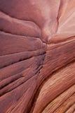 Closeup of sandstone ridges. At the Wave, Utah Stock Images